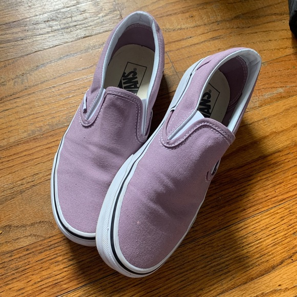 Vans Shoes   Lavender Slip On Vans